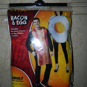 Spirit Bacon & Egg Adult Couple Costume One Size